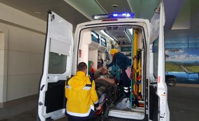 Kanalizasyon Çalışması Sırasında Kaza; 2 Yaralı