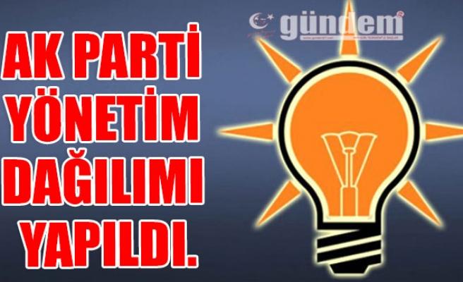 AK Parti Yönetim Dağılımı Yapıldı.