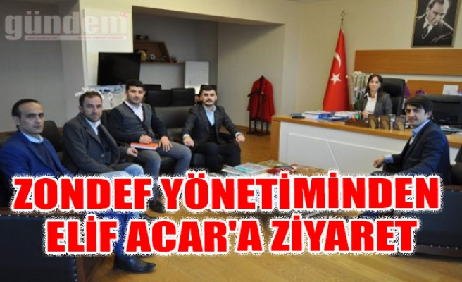 ZONDEF yönetiminden Elif Acar'a ziyaret
