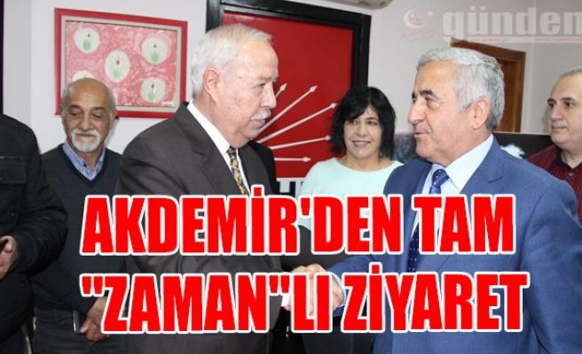 """Akdemir'den Tam """"ZAMAN""""lı Ziyaret"""