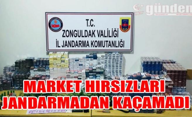 Market Hırsızları Jandarmadan Kaçamadı