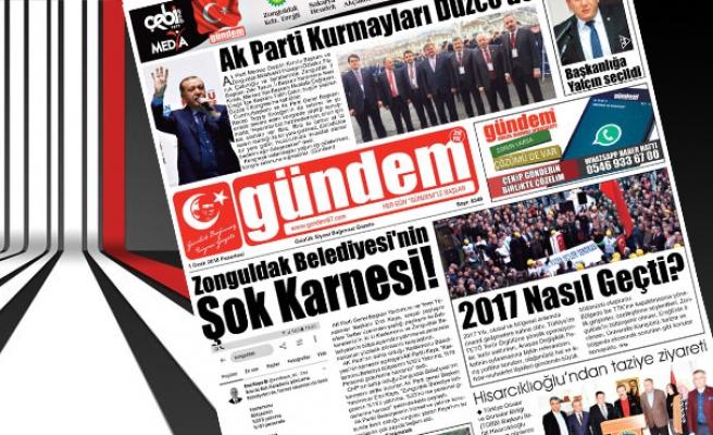 01 Ocak 2018 Gündem Gazetesi