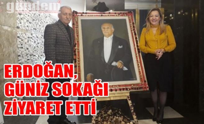 Erdoğan, Güniz Sokağı ziyaret etti