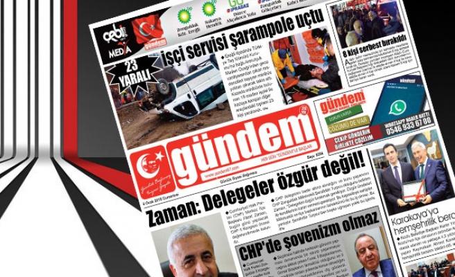 06 Ocak 2018 Gündem Gazetesi