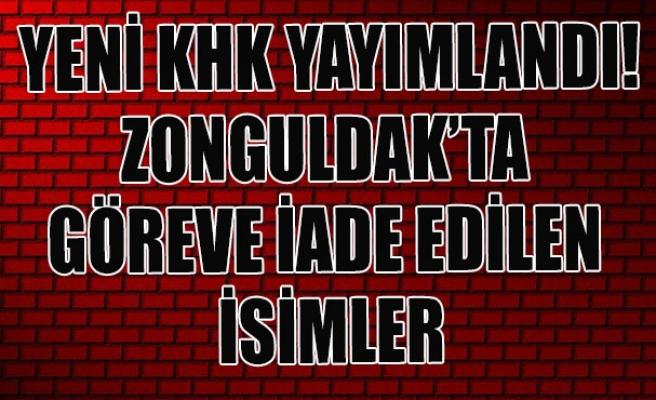 Yeni KHK yayımlandı! Zonguldak'ta göreve iade edilen isimler