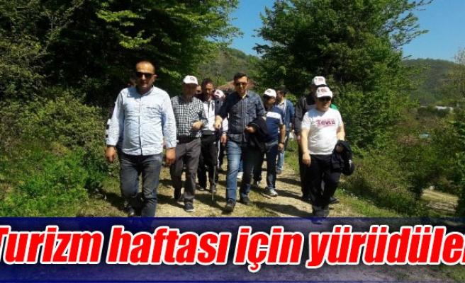 Turizm haftası için yürüdüler