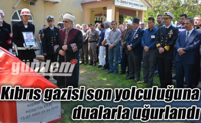 Kıbrıs gazisi son yolculuğuna dualarla uğurlandı