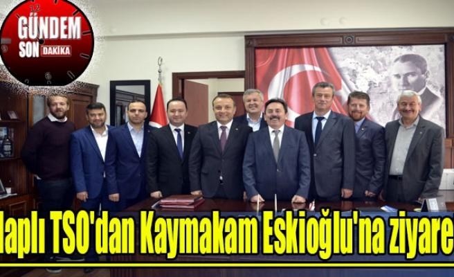 Alaplı TSO'dan Kaymakam Eskioğlu'na ziyaret