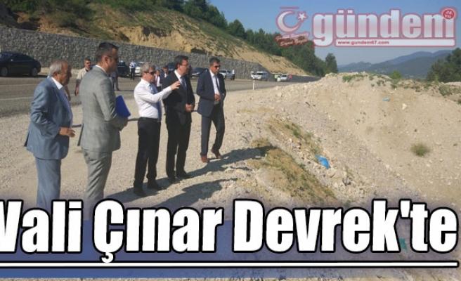 Vali Çınar Devrek'te