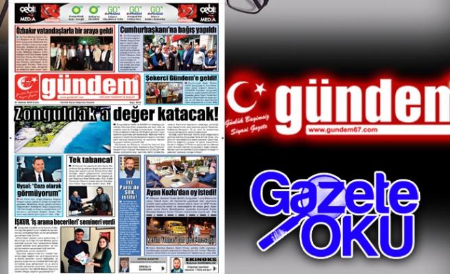 01 Haziran 2018 Gündem Gazetesi