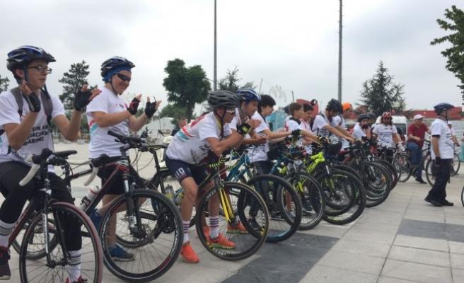 15 Temmuz şehitleri anısına bisiklet turu