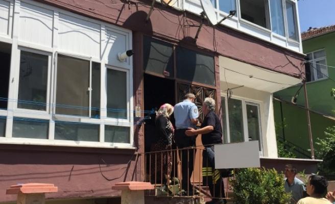 Düzce'de ev yangını 1 yaralı