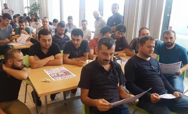 Başkan Ercandan; ERDEMİR işçilerine ziyaret