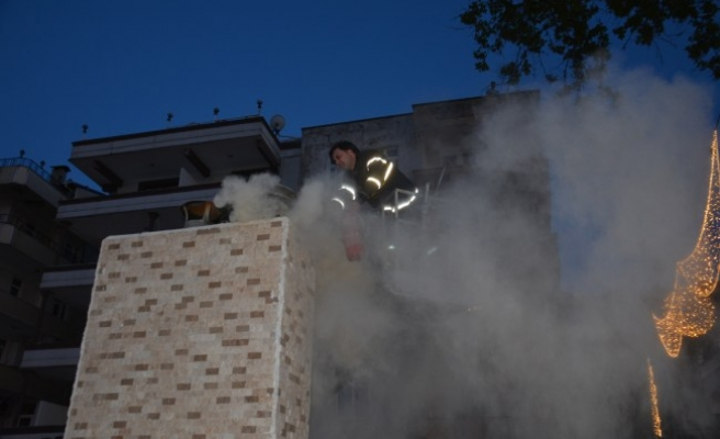 Akçakoca'da baca yangını
