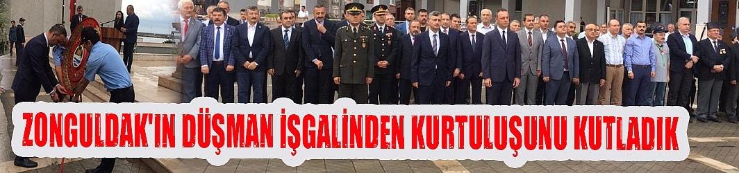 Zonguldak'ın Düşman İşgali'nden kurtuluşunun 98'inci yılı kutlandı