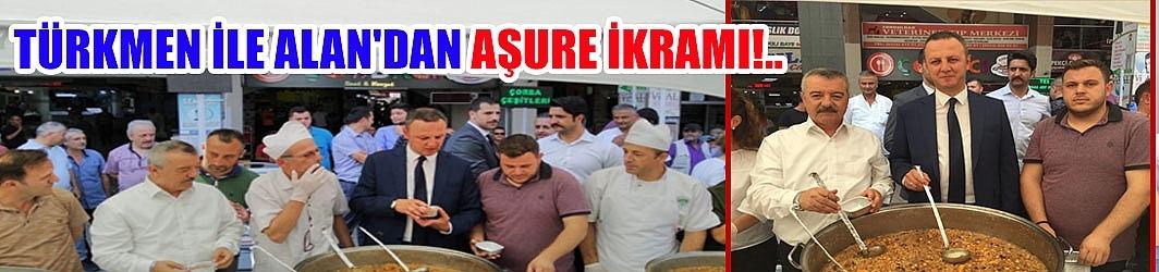 Türkmen ile Alan'dan aşure ikramı!..