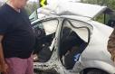 Kamyonla otomobil çarpıştı!.. 3 yaralı