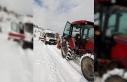 Hastaya müdahaleye giden 112 ekibi karda mahsur kaldı