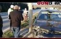 Otomobile çarpıp refüje çıktı!...
