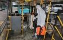 Özel halk otobüsleri korona virüse karşı dezenfekte...