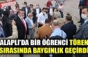 ALAPLI'DA BİR ÖĞRENCİ TÖREN SIRASINDA BAYGINLIK...