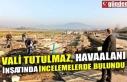 VALİ TUTULMAZ, HAVAALANI İNŞATINDA İNCELEMELERDE...