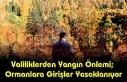 Valiliklerden yangın önlemi; Ormanlara Girişler...