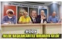 AYÇİÇEK BELDE BAŞKANLARI İLE BİRARAYA GELDİ