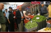 Başkan Bozkurt, pazar yerinde denetledi!..