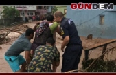 Sel felaketi... 12 kişi kurtarıldı
