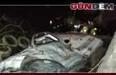 Ehliyetsiz ve alkollü sürücünün kullandığı araç devrildi!..