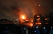 Takviye ekiplerin müdahalesiyle dev yangın söndürüldü...