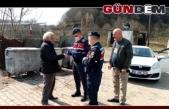 Jandarma Ereğli'de 65 yaş uygulamasında...