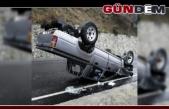 Orman İşletme Müdürlüğüne ait kamyonet kaza yaptı...