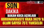 Türkiye'de koronavirüsten ölenlerin sayısı 75'e yükseldi