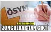 KPSS BİRİNCİSİ ZONGULDAK'TAN ÇIKTI
