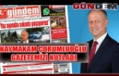 Kaymakam Çorumluoğlu gazetemizi kutladı
