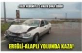 EREĞLİ-ALAPLI YOLUNDA KAZA!