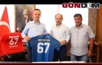 Başkan Alan'a Kardemir Karabükspor forması!..