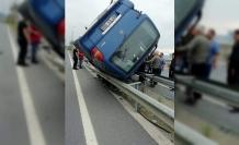 Minibüs refüje çıktı: 1 yaralı