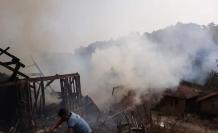 Eskipazar'da 2 ev alevlere teslim oldu
