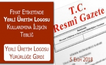 Yerli Üretim Logosu'nun kullanım esasları Resmi Gazete'de yayımlandı