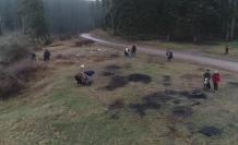 Doğa sporcuları ormanlarda çevre temizliği yaptı
