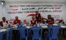 Türk Kızılay Karabük Şubesi tarafından İdlip'te iftar verildi