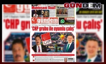 09 TEMMUZ 2019 SALI GÜNDEM GAZETESİ