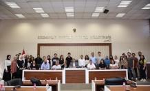 Staj gören öğrencilerle toplantı