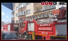 Mutfak yangını binaya sıçramadan söndürüldü!..