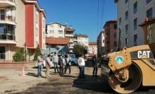 Asfalt ekipleri Şefkat Gökbayrak Sokak'ta