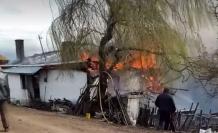 Safranbolu'da yangında 1 ev alevlere teslim oldu