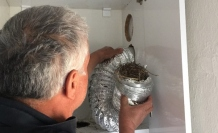 Aspiratör bacasındaki 8 yavru kuş telef olmaktan son anda kurtarıldı